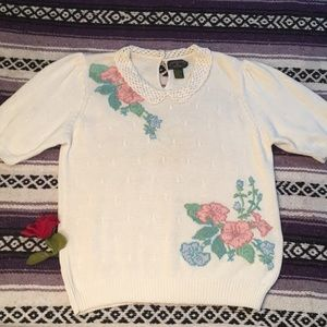 VINTAGE- charters -club true sweater top size LRG